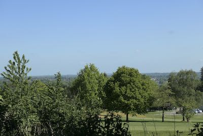 Looking north eastwards from Moor Park golf course