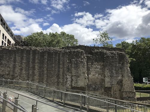 A section of the original Roman Wall