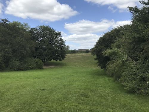 There's more space as you come to finish the Chalfont St Giles circular walk