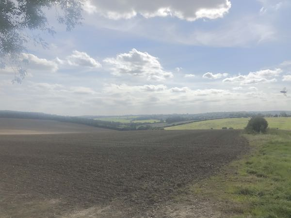 Rolling hills lead down to the river chess