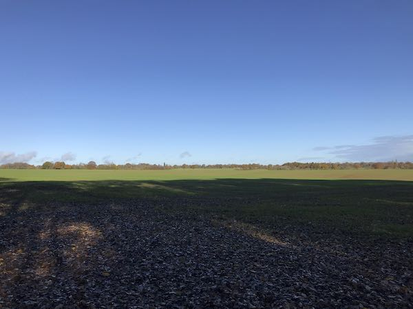 The first open field on the Chipperfield circular walk