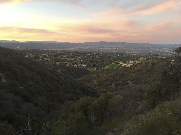 The evening sunset on the Rustic Garapito Trail
