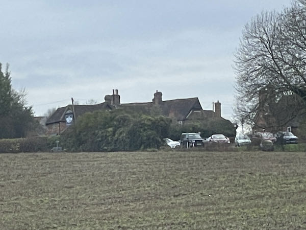 The Crown at Penn, the turning point on the Coleshill to Penn circular Walk