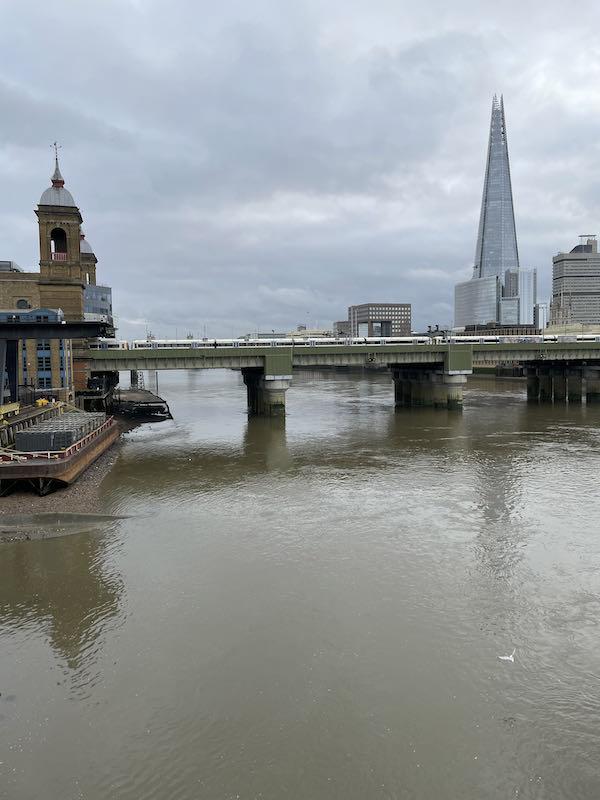 Southwark Bridge on a Dickensian walk near St Paul's