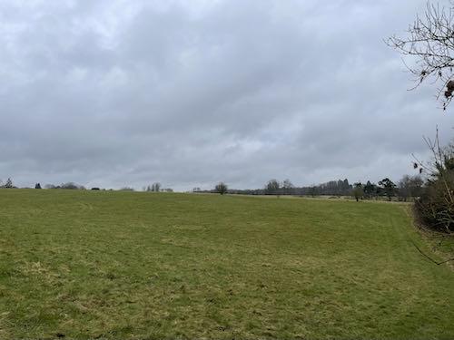 Open fields on the Chorleywood Common & Philipshill Wood walk