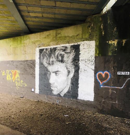 George Michael looks on at the Rickmansworth Loop walk