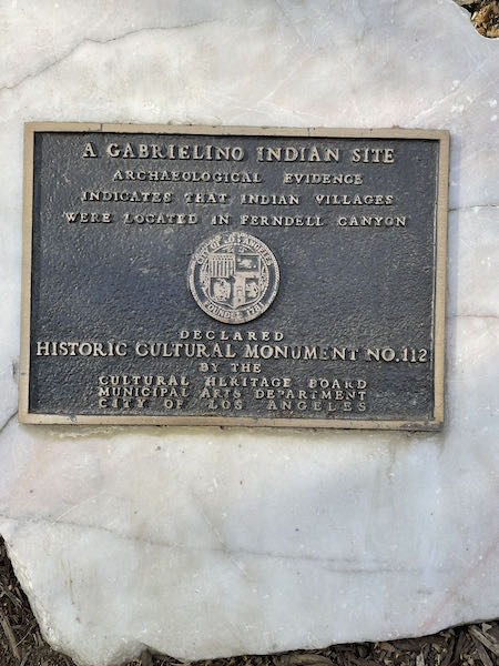 Acknowledging the heritage on the Ferndell to Griffith Park tour