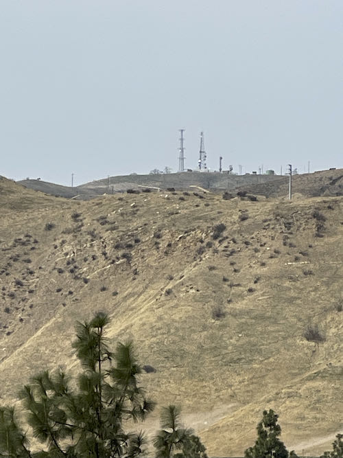 The Derricks in the distance on the Porter Ranch Trail