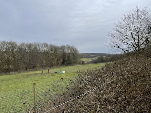 Open ground on the Chess Valley Circular walk