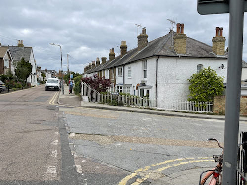 The end of the Faversham to Whitstable walk