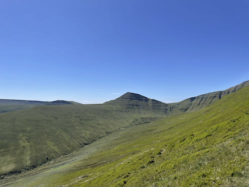 The summit ahead on the quiet route to Pen y Fan