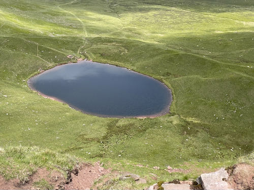 The large llyn on the quiet route to Pen y Fan