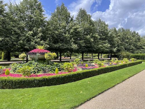 The prettiest part of Regent's Park on the central London parks walk