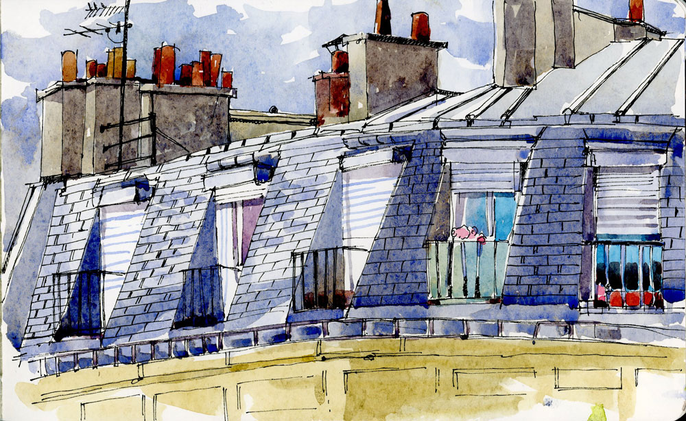 Chambre de bonne  The Sketchbook