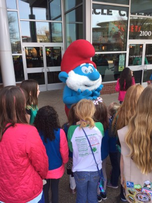 Papa Smurf visiting with our guests