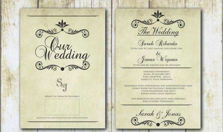 Contoh Undangan Pernikahan Singkat