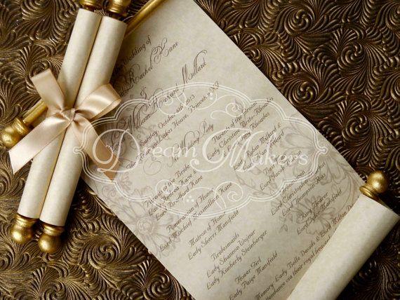 Contoh Undangan Pernikahan ala surat lawas