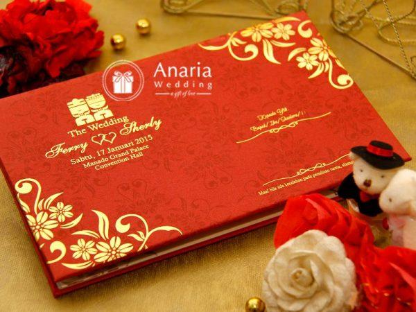Contoh Undangan Pernikahan dengan dominasi bunga-bunga