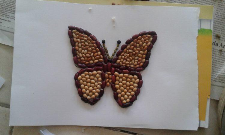 Gambar Mozaik Kupu-kupu