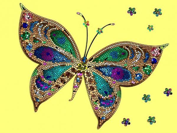 Gambar Mozaik dari Kacang Hijau