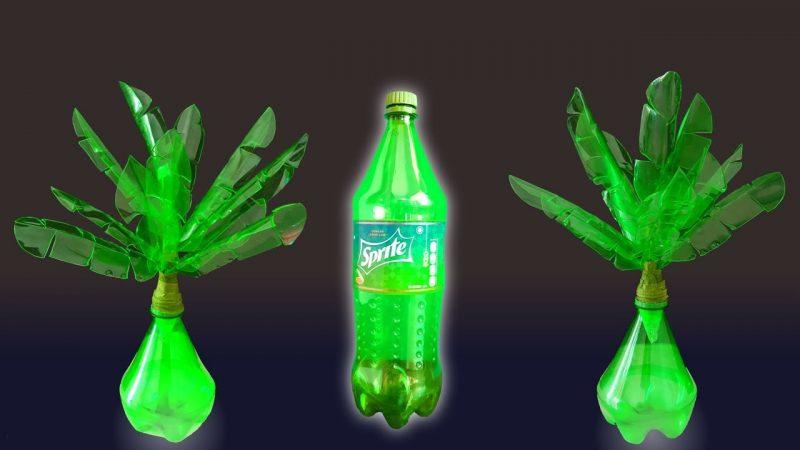 Kerajinan Tangan dari Limbah Botol Bekas Berbentuk Pohon
