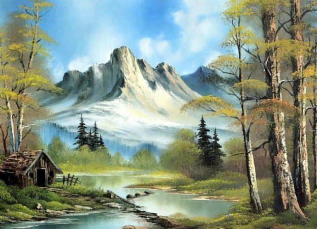 Contoh Lukisan Aquarel Pemandangan