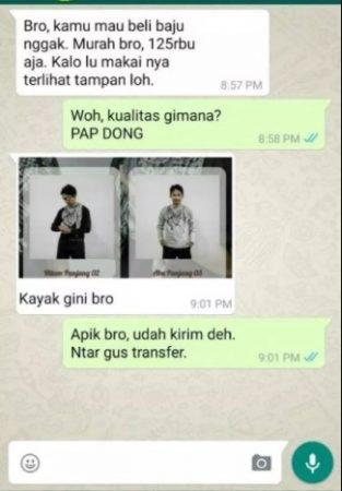 Contoh PAP di WhatsApp