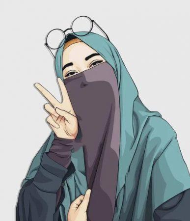 Gambar Kartun Muslimah Anak Kuliahan