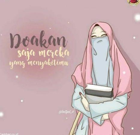 Gambar Kartun Muslimah Ceria