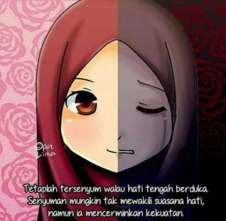 Gambar Kartun Muslimah dan Kata kata 1