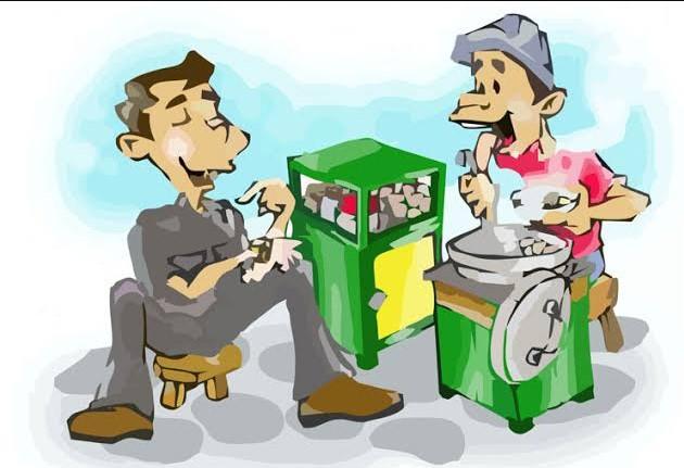 Gambar Kartun Orang Makan Bakso