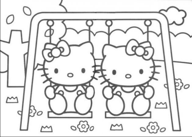 Gambar Hello Kitty Hitam Putih