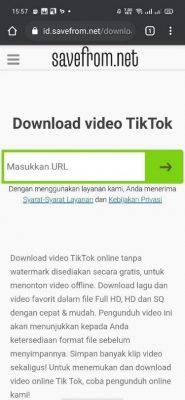Tempelkan tautan video TikTok