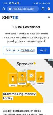 download video dan salin link