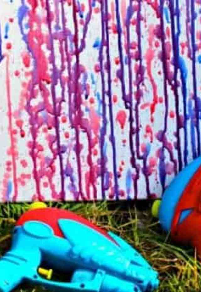 a water pistol painting