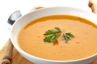 You can always forgo the cream and relish, and simply garnish the soup with a small sprig of parsley.
