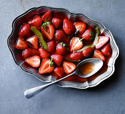 sharingourfoodadventures.com Recipe: Strawberries with Lime & Long Pepper Syrup (Courtesey of BBC Good Food)