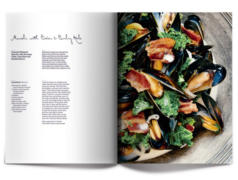 Mussels with Cider & Kurly Kale - James Mackenzie