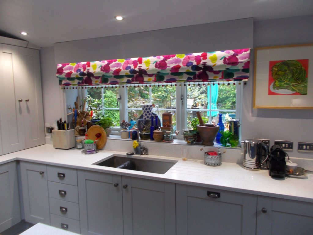 My Dream Kitchen. The finishing touch - our blinds.