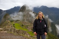 Shari at Machu Picchu, Peru