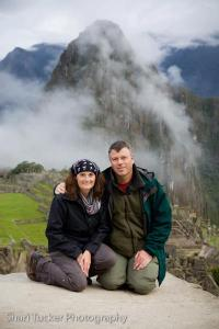 Andrea and Edward at Machu Pichhu on Peru Through the Lens 2012 Trip