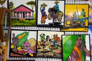 Hand crafted tiles at the Santo Domingo Market