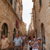 Crowded city streets, Dubrovnik, Croatia