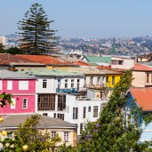 Colorful houses of Valparaiso, Chile