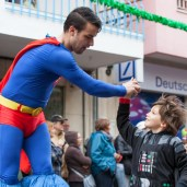 Superman high fives