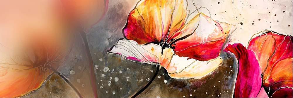 fleurs en peinture regardez des