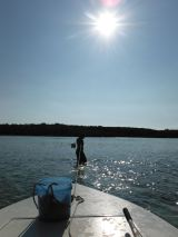 sean pulling boat