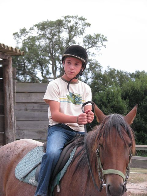 Riding on my horse Regina.