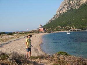 The beach and bay of Isola Tavolara