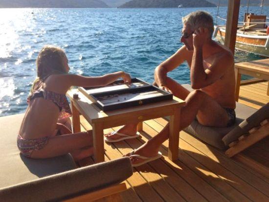 Backgammon at Miamai Hotel in Bozburun